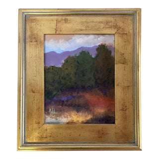 Purple Mountains Original Oil Painting