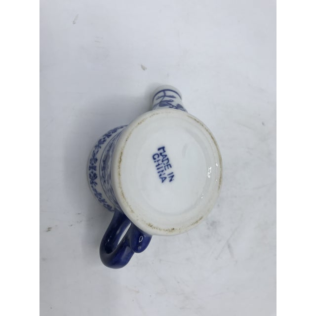 Blue and White Porcelain Miniature Watering Can Sculpture For Sale In Richmond - Image 6 of 7