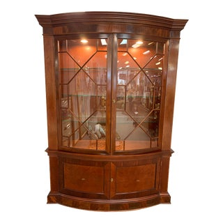 Late 20th Century Baker Furniture Lighted China Cabinet For Sale