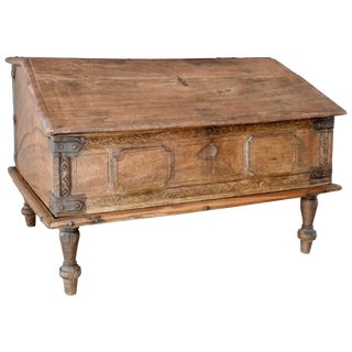 19th Century Spanish Childrens Lift Top Writing Desk For Sale
