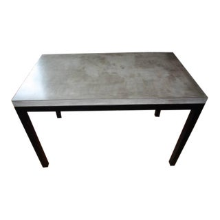 Crate & Barrel Parsons Concrete Top/Dark Steel Base Dining Table