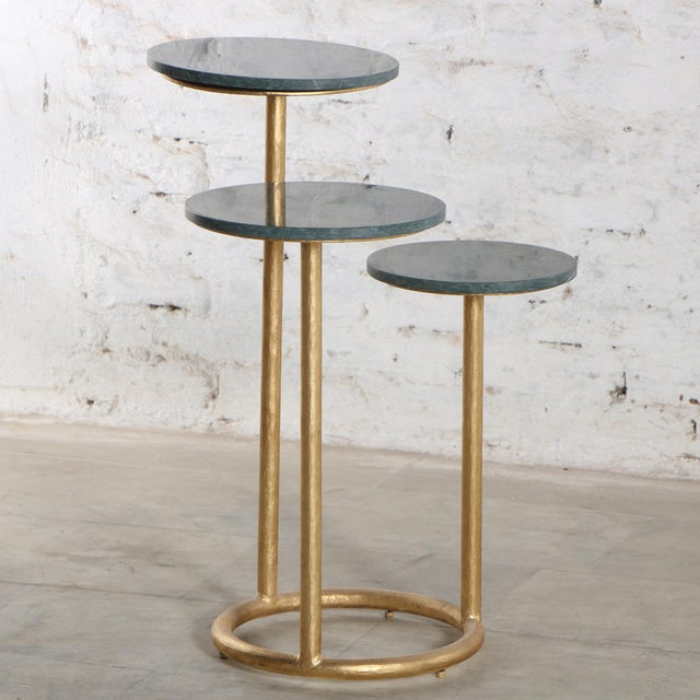 Mid Century Modern Marble Trio Accent Table Ii