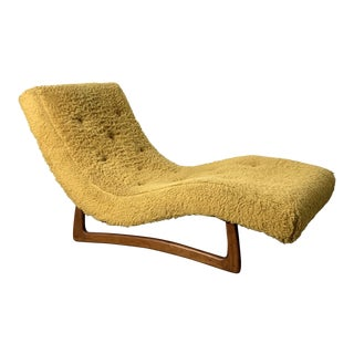 1960s Vintage Adrian Pearsall Wave Chaise Lounge Chair For Sale