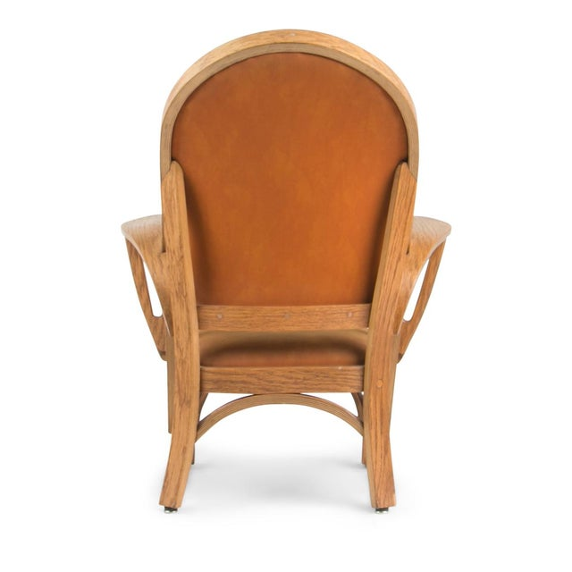 1970s Norman Ridenour Bentwood Low Armchairs - A Pair For Sale - Image 5 of 13