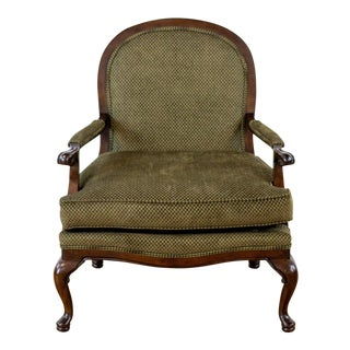 Thomasville Green Bergere Armchair For Sale
