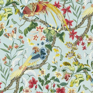 Scalamandre Botany Bay Fabric in Sky For Sale