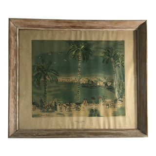 Framed Dufy Lithograph Print For Sale