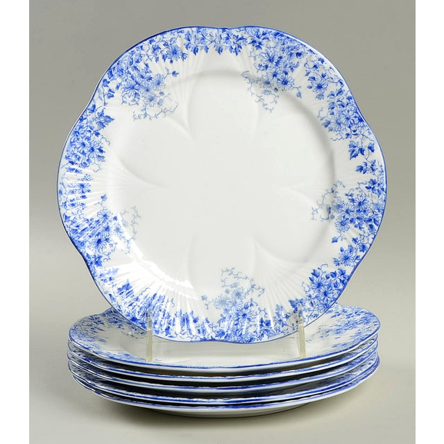 Shelley Dainty Blue Salad Plate Set/6 For Sale In Greensboro - Image 6 of 6