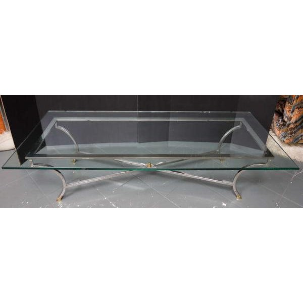 Brass Maison Jansen Style Coffee Table For Sale - Image 7 of 8