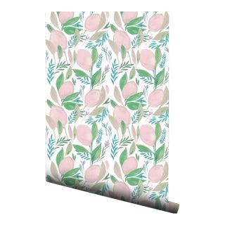 Cottage Pink Lemonade Pre-Pasted Wallpaper - 2 Piece Set For Sale