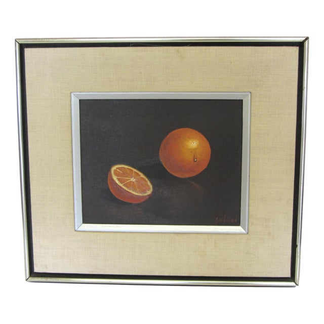 """Oranges"" Still Life- Mid-Century Signed Original Oil Painting by Jon Helland - Image 1 of 6"