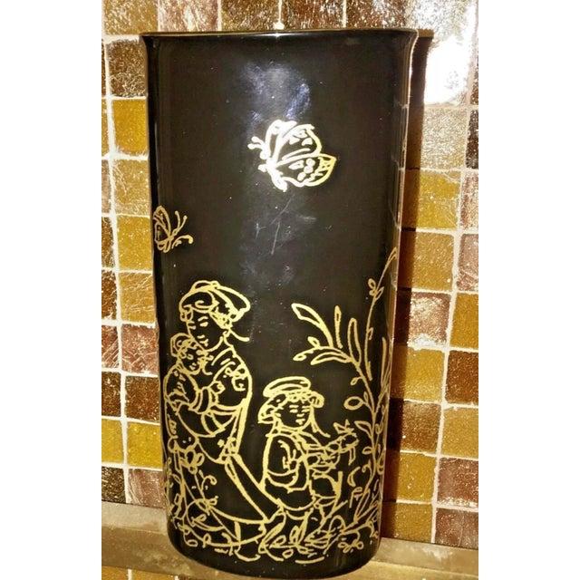 """Edna Hibel Rosenthal """"Festival Annual"""" Golden Vase For Sale In Boston - Image 6 of 13"""