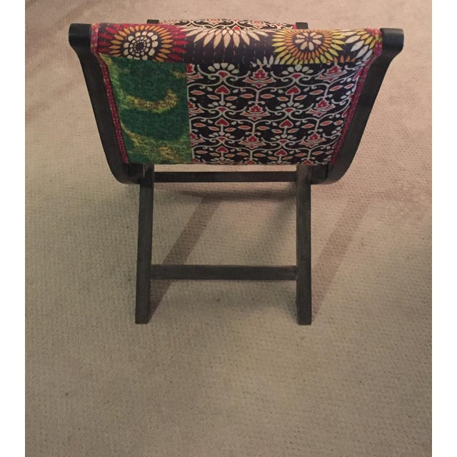Anthropologie Terai Folding Chair Upholstered Eclectic