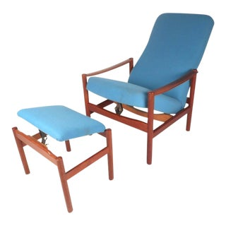 Mid-Century Modern Lounge Chair and Ottoman by Westnofa For Sale