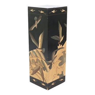 1970's Seagulls, Cranes and Ocean Waves Display Pedestal For Sale