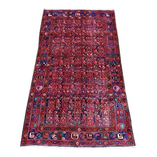 Semi-Antique Hosseinabad Rug - 4′ × 8′6″
