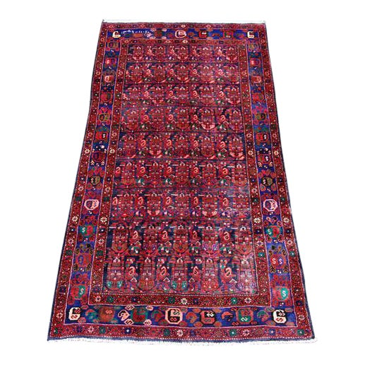 Semi-Antique Hosseinabad Rug - 4′ × 8′6″ - Image 1 of 4