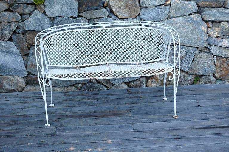 1950s MCM Salterini Style Iron Patio Set, Six Chairs, Loveseat And Dining  Table For