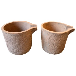 Industrial Pair of Foundry Pots For Sale