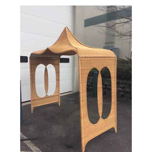 Wood Architectural Rattan Canopy For Sale - Image 7 of 13