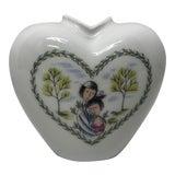 Image of Vintage Mid Century Rosenthal Porcelain Heart Vase For Sale