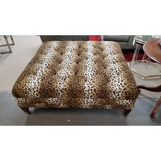 Modern Leopard Print Ottoman Preview