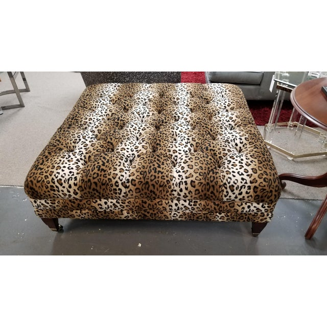 Custom Leopard Ottoman on Wheels. This will complement a Variety of Styles. Let us know if you are ready to bring this...
