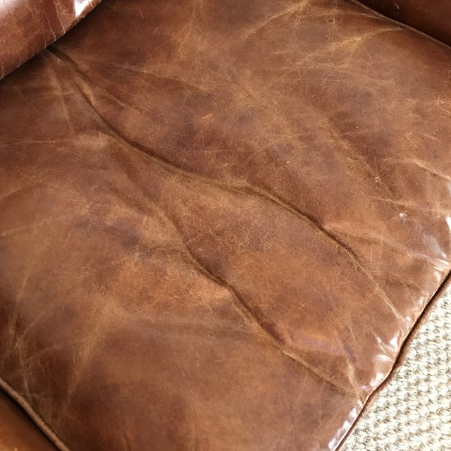 Timothy Oulton Modern Leather Club Chairs - A Pair - Image 5 of 8