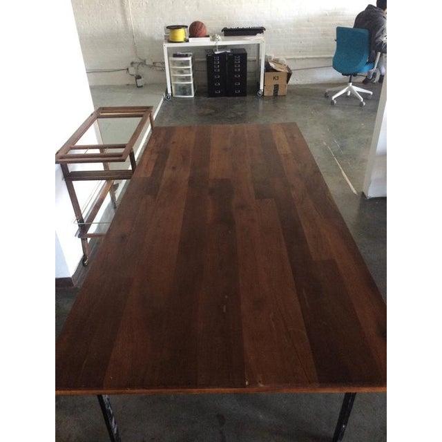 West Elm Wood & Metal Industrial Dining Table - Image 5 of 6