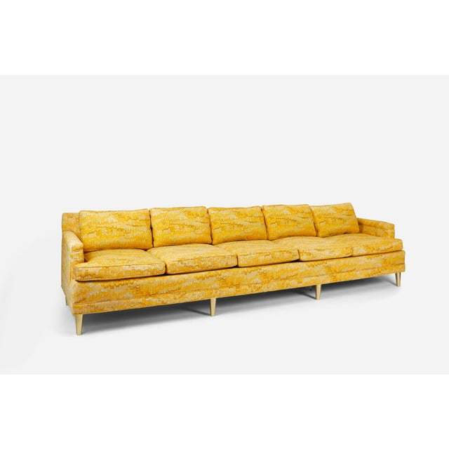 Beautiful Jack Lenor Larsen sofa on brass legs. 11 feet long! Original fabric with down filled cushions. We also have an 8...