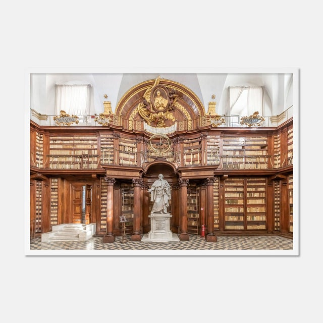 Contemporary Biblioteca Casanatense, XI, Rome, Italy by Richard Silver in White Framed Paper, Small Art Print For Sale - Image 3 of 3