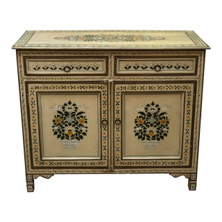 Antique Hand Painted French Cabinet