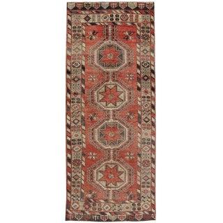 20th Century Turkish Oushak Carpet Runner Gallery Rug For Sale
