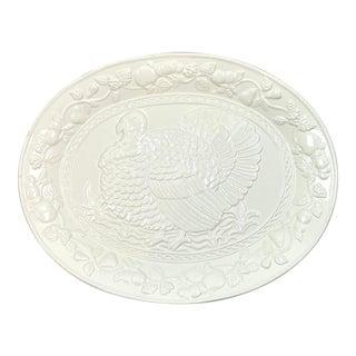 White Thanksgiving Turkey Serving Platter For Sale