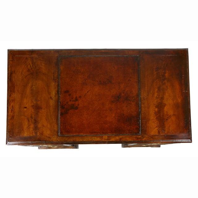 Georgian George II Style Walnut Pedestal Desk For Sale - Image 3 of 12