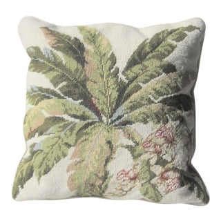 Tommy Bahama Tropical Down Filled Needlepoint Pillow For Sale
