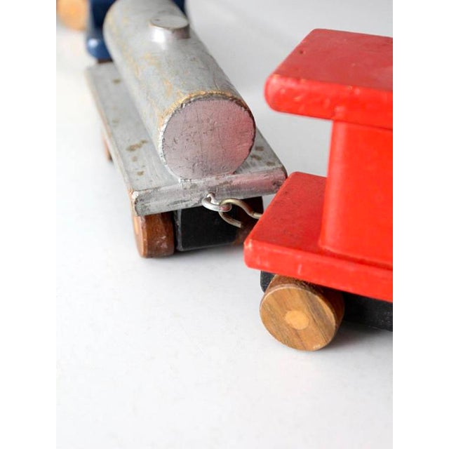 Vintage Wooden Toy Train For Sale - Image 5 of 8