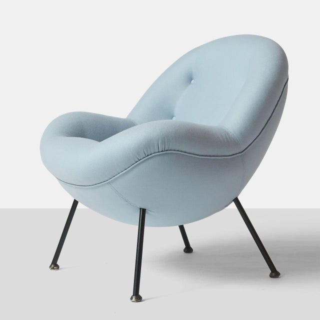 """Mid-Century Modern An """"Egg"""" Chair by Fritz Neth For Sale - Image 3 of 8"""