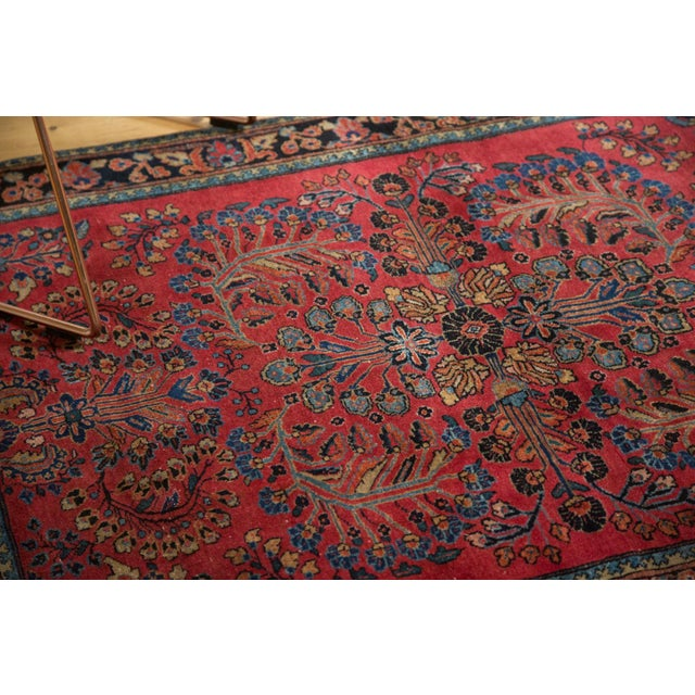 """Vintage American Sarouk Rug - 3'3"""" x 4'11"""" For Sale In New York - Image 6 of 11"""