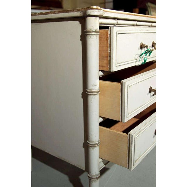 Hollywood Regency Faux Bamboo Dresser For Sale In New York - Image 6 of 6