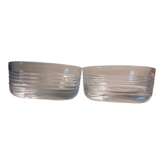 Durand French Art Deco Style Crystal Bowls - a Pair For Sale