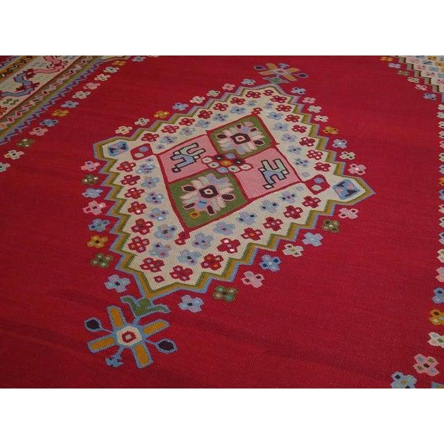 Fantastic Antique Oushak Kilim For Sale - Image 4 of 10
