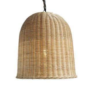 Bell Raw Wicker Lantern Large
