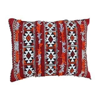 Diamonds & Stripes Moroccan Pillow For Sale