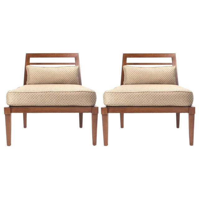 French Mid century Chairs in the Style of Andre Arbus For Sale - Image 9 of 9