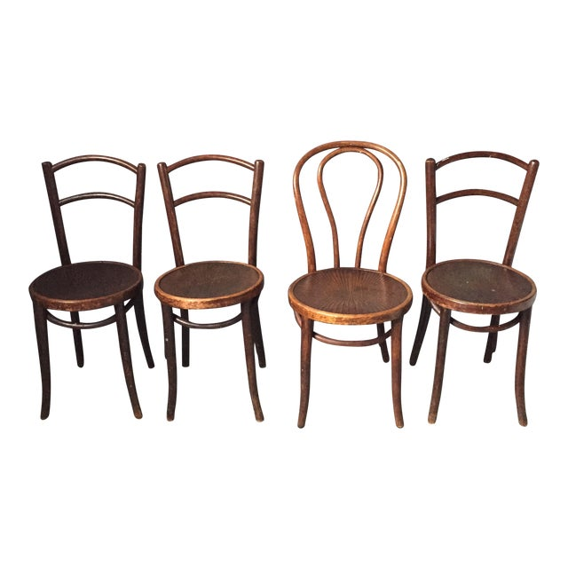 Thonet Bentwood Cafe Chairs - Set of 4 - Image 1 of 11