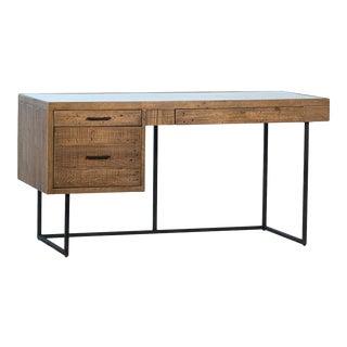 Adler Rustic Wood & Iron Desk For Sale