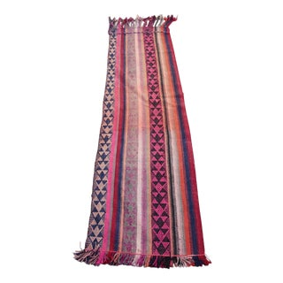 Colorful Turkish Stripe Kilim - 1′6″ × 5′4″