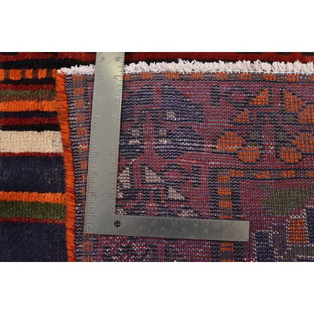Vintage Persian Luri Rug- 4′1″ × 7′5″ For Sale - Image 12 of 13