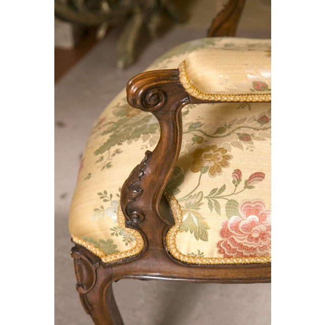 French Rococo Louis XV Style Armchairs - A Pair - Image 8 of 9